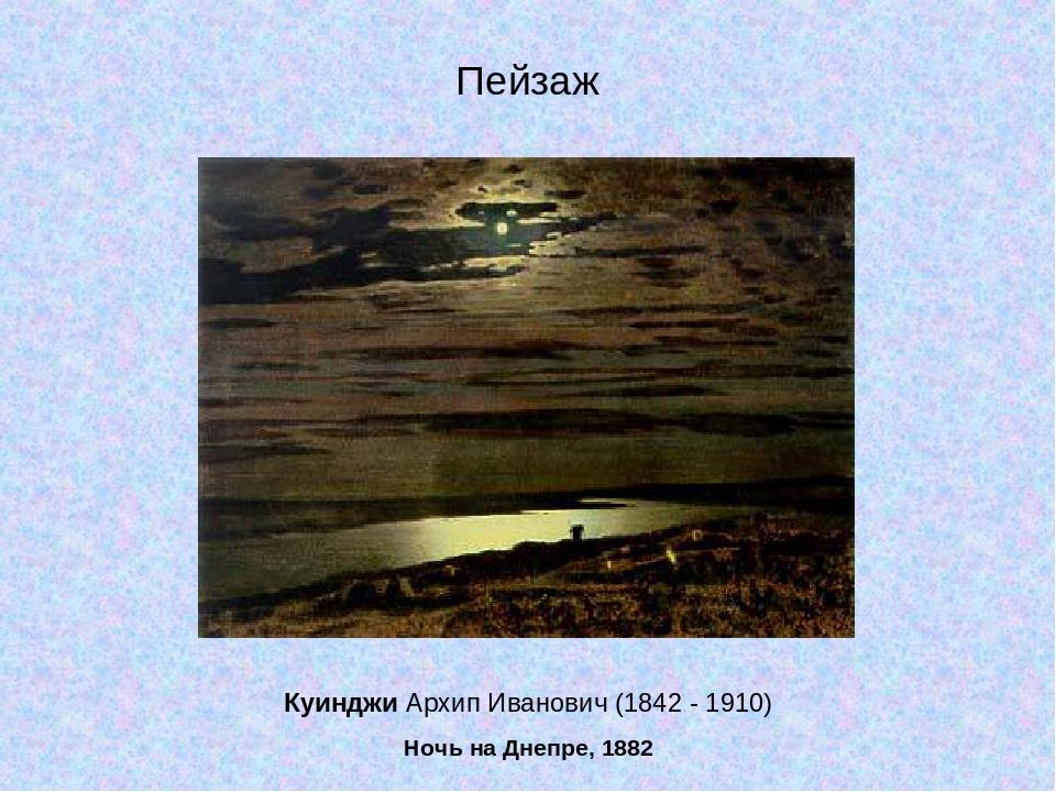 Куинджи Архип Иванович (1842 - 1910) Ночь на Днепре, 1882 Пейзаж