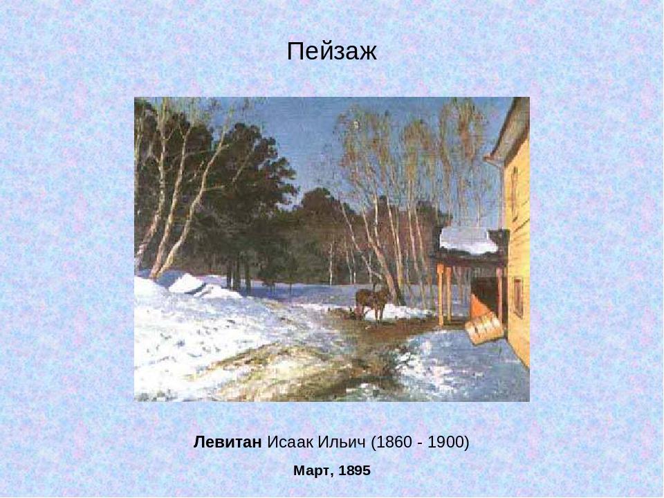 Левитан Исаак Ильич (1860 - 1900) Март, 1895 Пейзаж