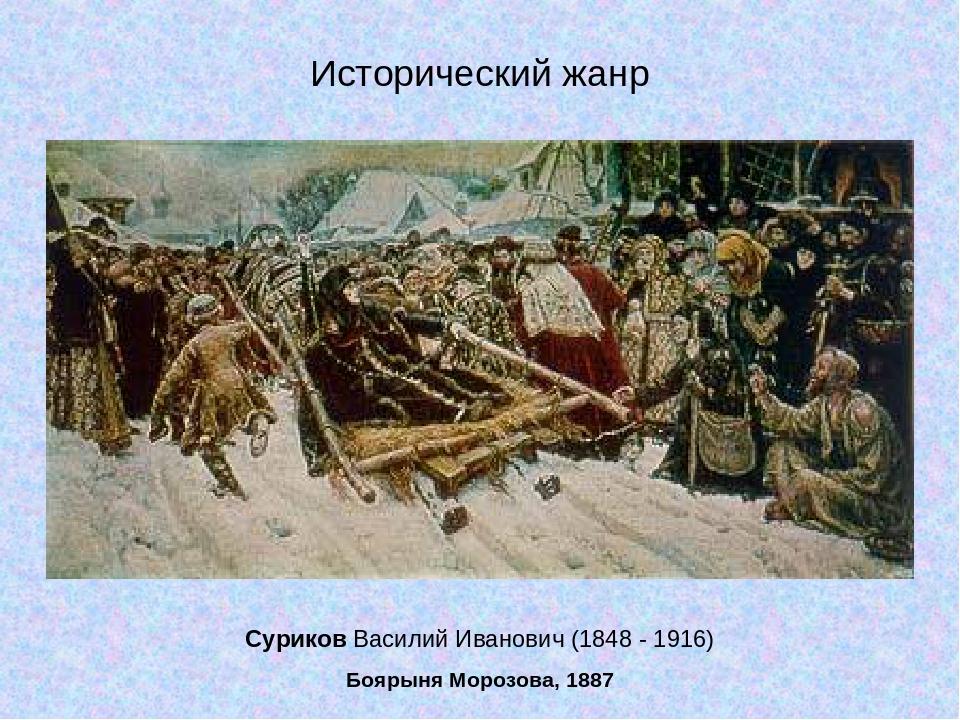 Суриков Василий Иванович (1848 - 1916) Боярыня Морозова, 1887 Исторический жанр