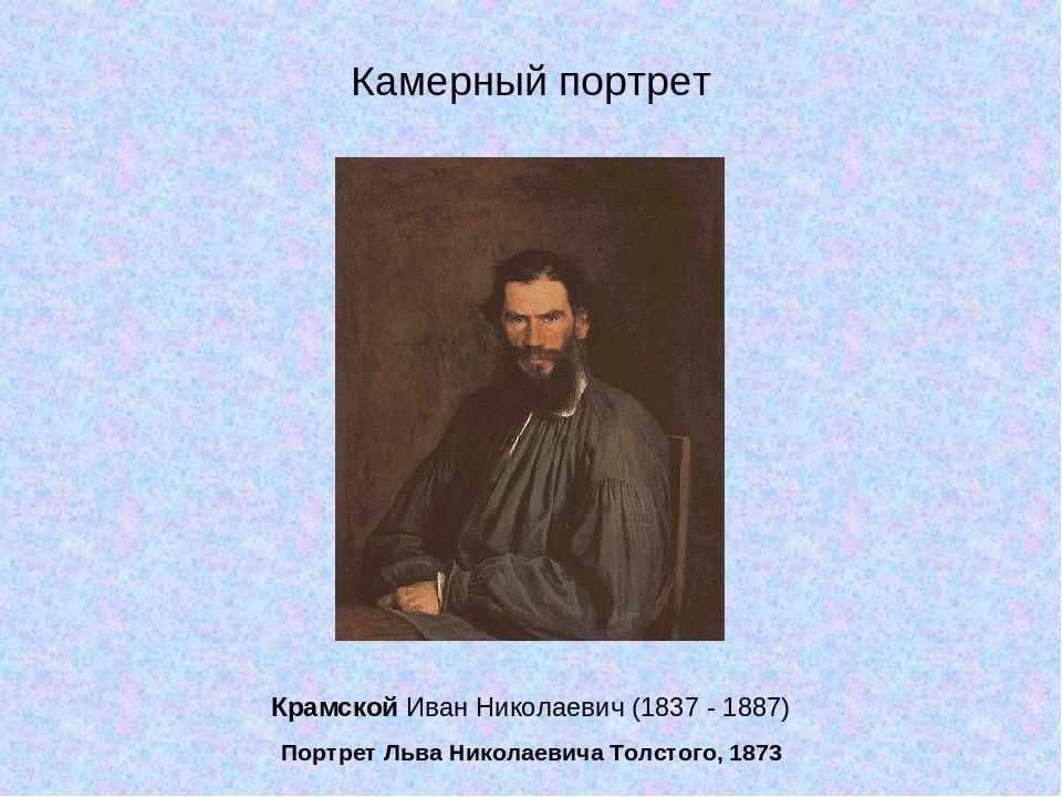 Крамской Иван Николаевич (1837 - 1887) Портрет Льва Николаевича Толстого, 187...