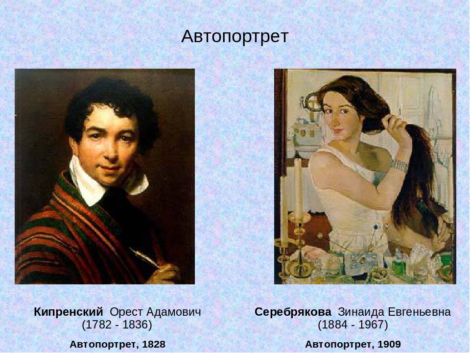 Кипренский Орест Адамович (1782 - 1836) Автопортрет, 1828 Серебрякова Зинаида...
