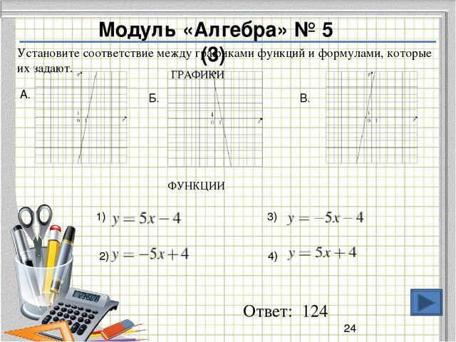 Ответ: 3 Модуль «Алгебра» № 2 (2) О числах а и b известно, что  Среди приве...