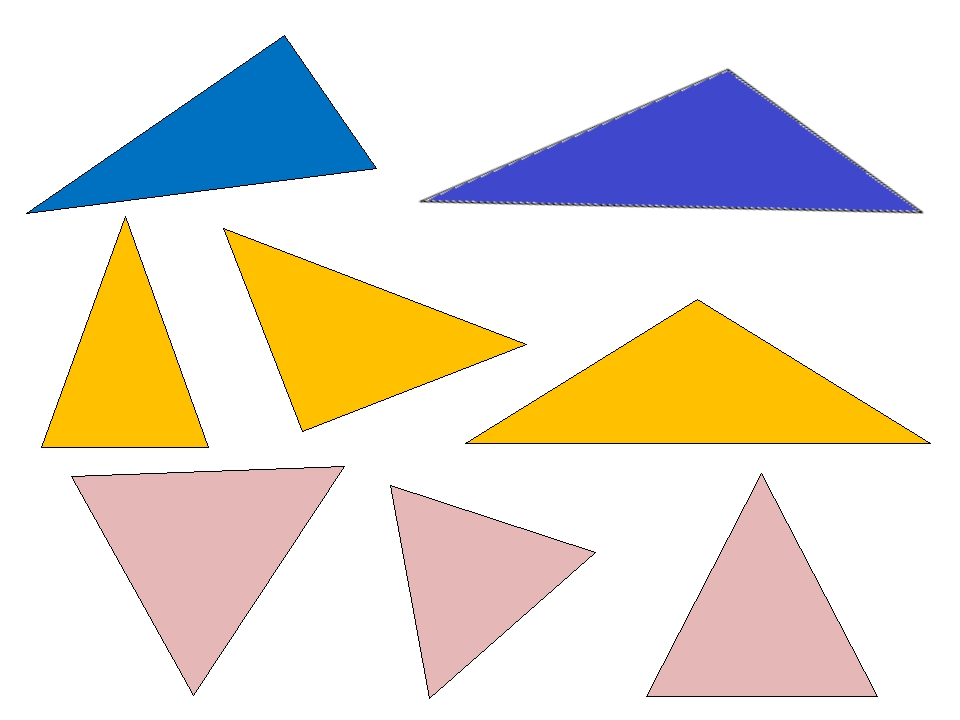 треугольник виды треугольников картинки