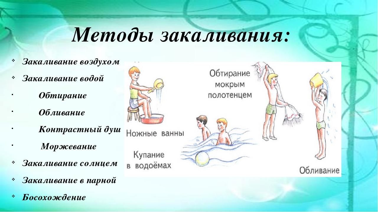 Картинки закаливание ребенка дошкольного возраста