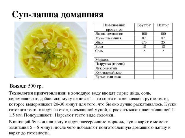 Схема приготовления суп лапша домашняя фото 13