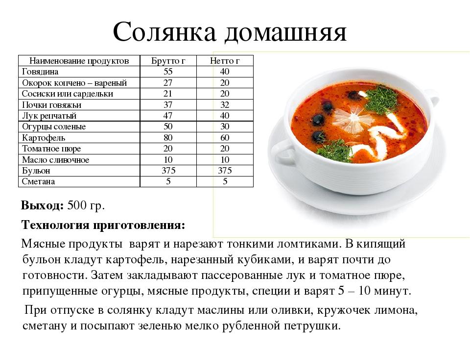 Рецепт приготовить суп солянку в домашних условиях 88