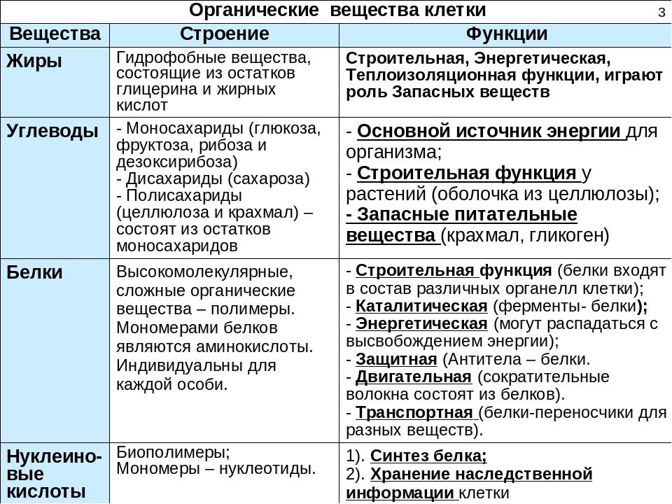 Неорганические Вещества Живого Таблица По Биологии 9 Класс Гдз