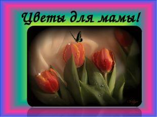 Цветы для мамы!
