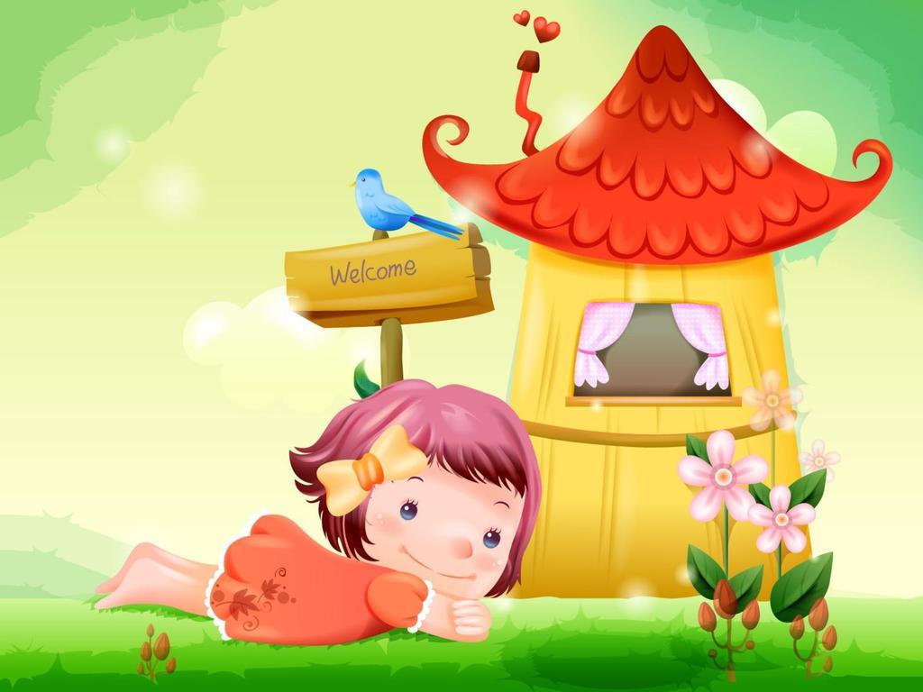 Рисунок дети в доме