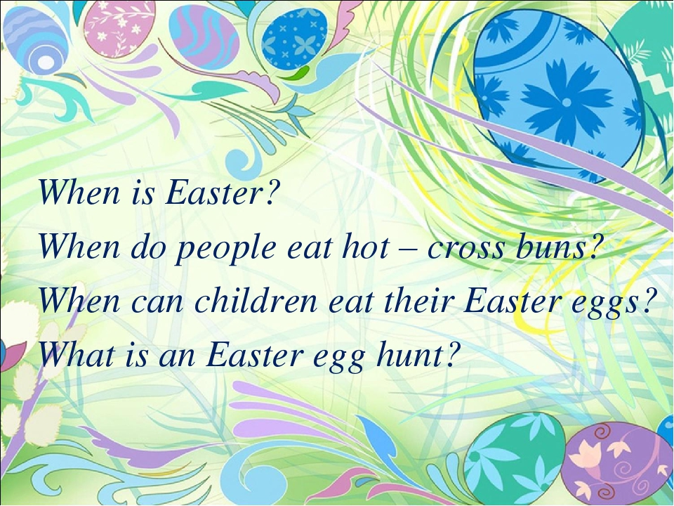 When is Easter?
