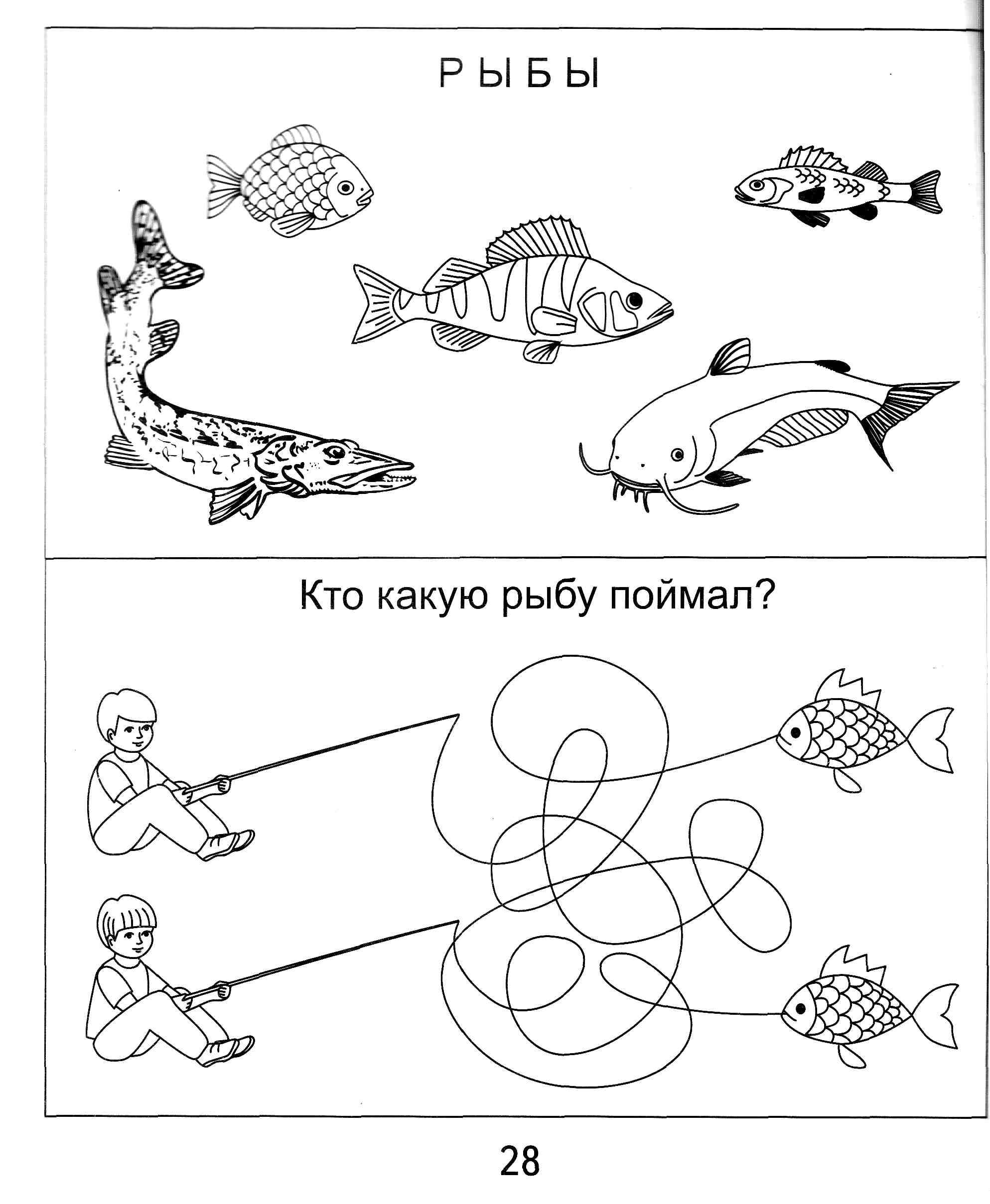 Задания в картинках по теме вода