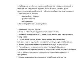 Субъект диагностики Пакет методик Учащиеся начальной школы 1. Наблюдение за