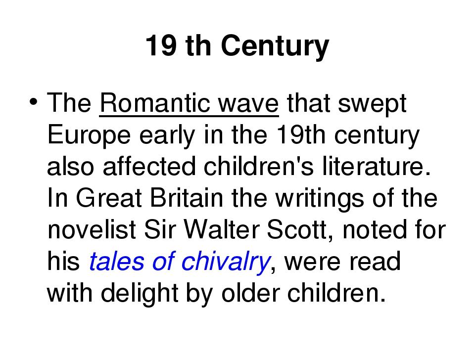 british literature from 19th century u