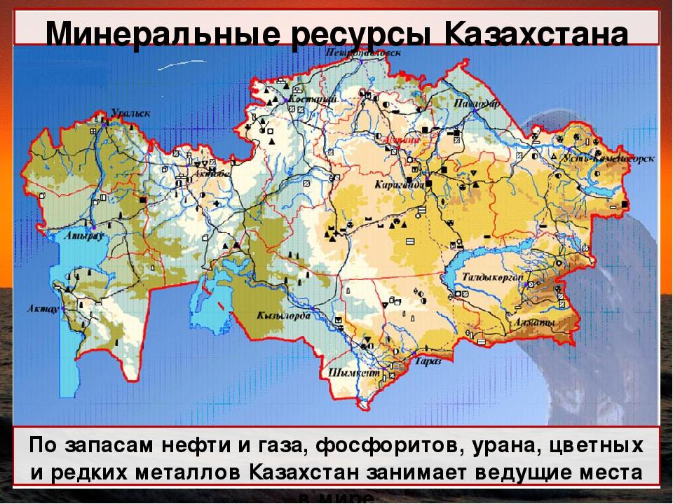 Реферат природные ресурсы казахстана 2255