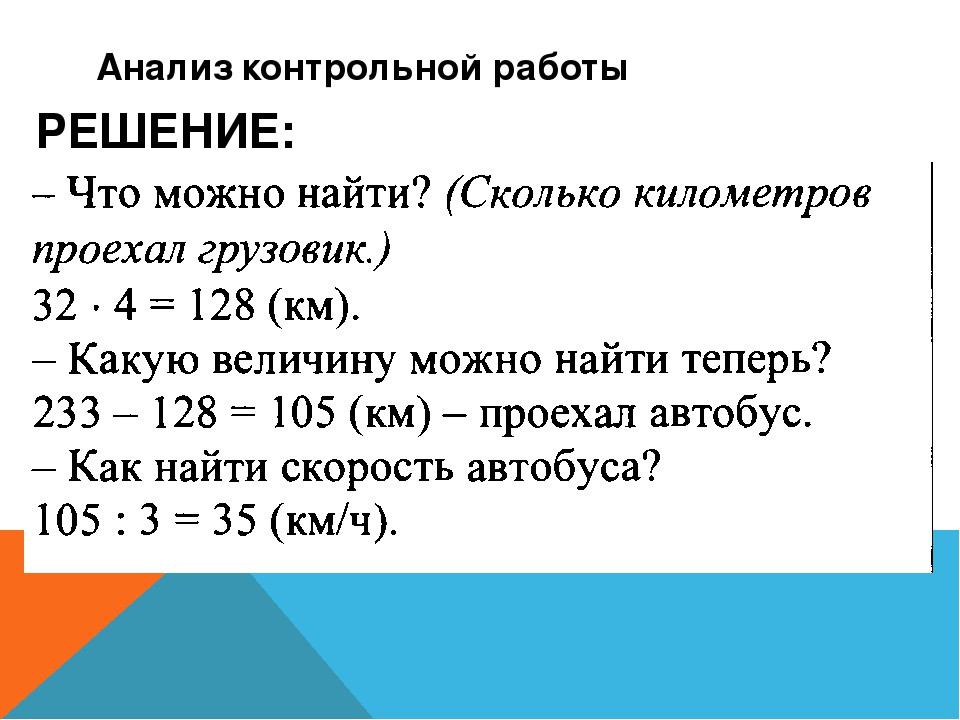 Анализ контрольной работы класс слайда 6 Анализ контрольной работы РЕШЕНИЕ