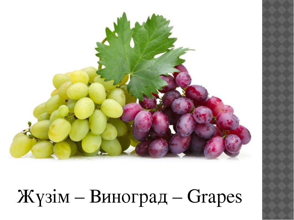 Жүзім – Виноград – Grapes