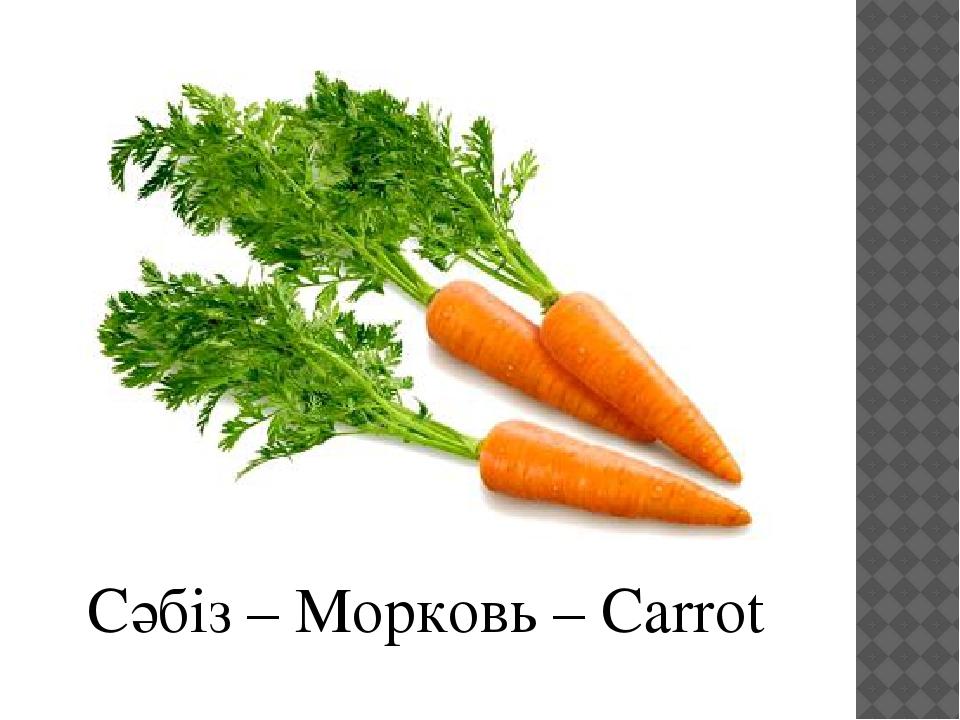 Сәбіз – Морковь – Carrot