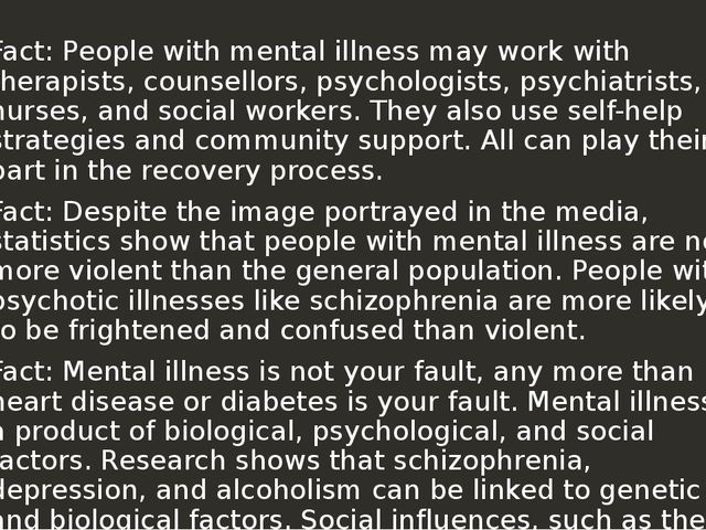 people with mental illness This law protects people who have physical and mental disabilities from discrimination in employment, government services and activities, public accommodations, public transportation, and.