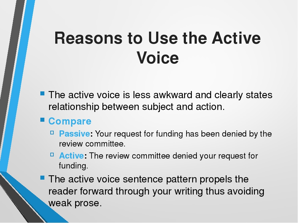 active voice in essays Active voice adds impact to your writing sentences written in an active voice flow better and are easier to understand.