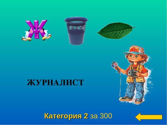Категория 2 за 300 ЖУРНАЛИСТ