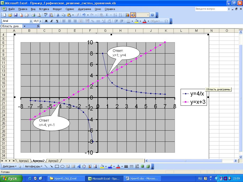 Нарисовать точку на графике в excel 27