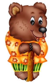 Медведь из теремка картинка