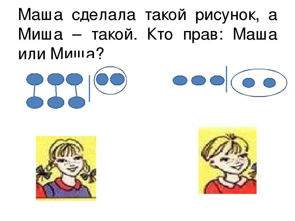 Маша сделала такой рисунок, а Миша – такой. Кто прав: Маша или Миша?