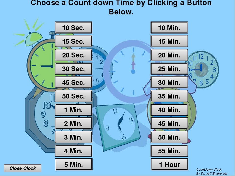 Countdown Clock © 2009 Jeff Ertzberger All rights reserved. All Clipart Copy...