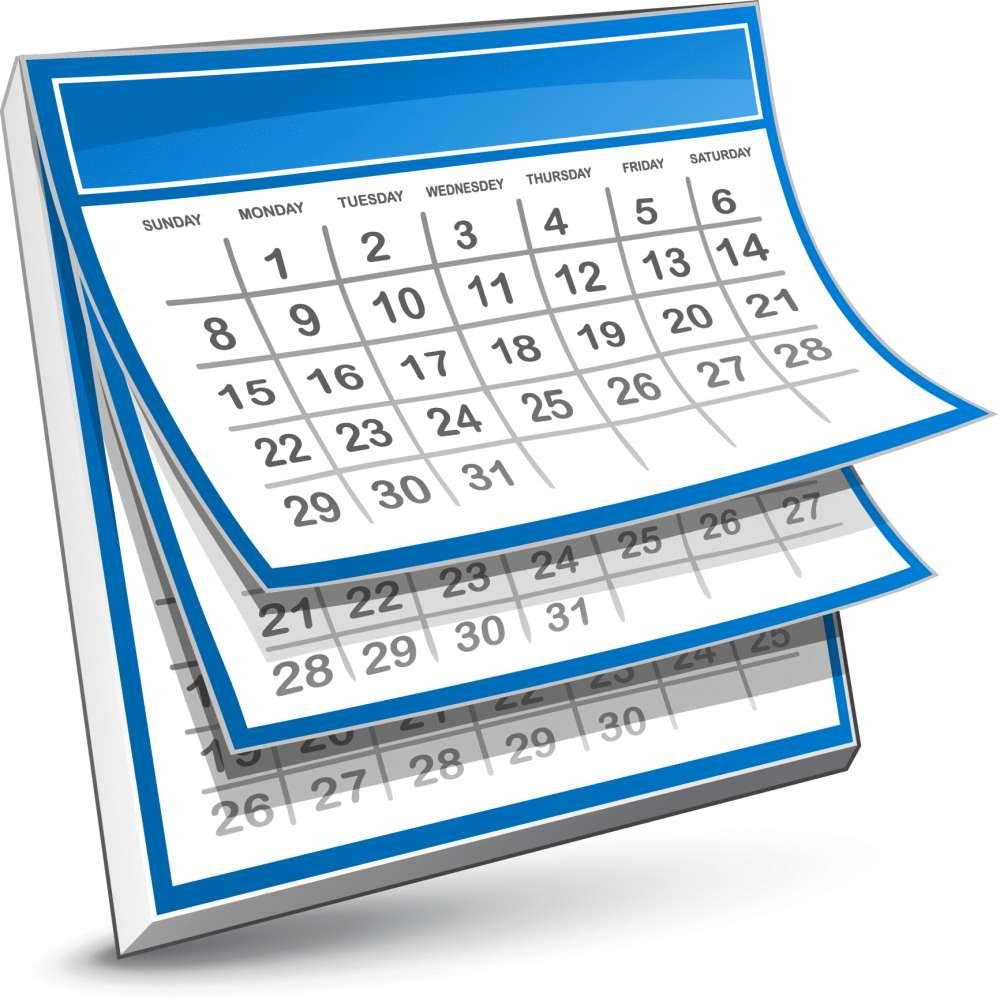 Картинки с датами календаря