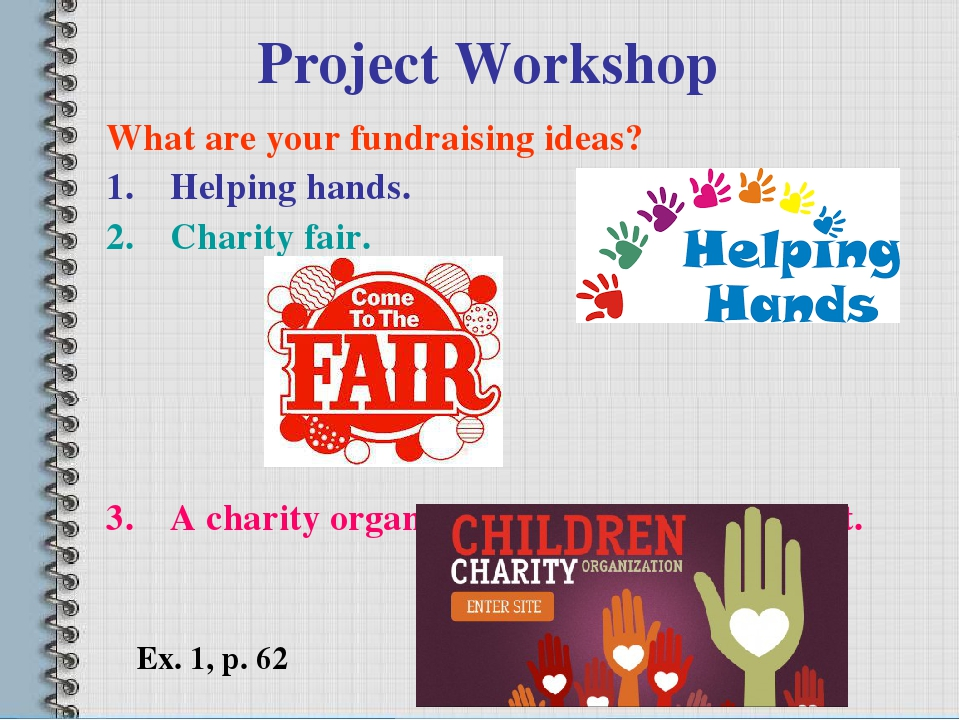 Проект по английскому языку 7 класс на тему:charity fair