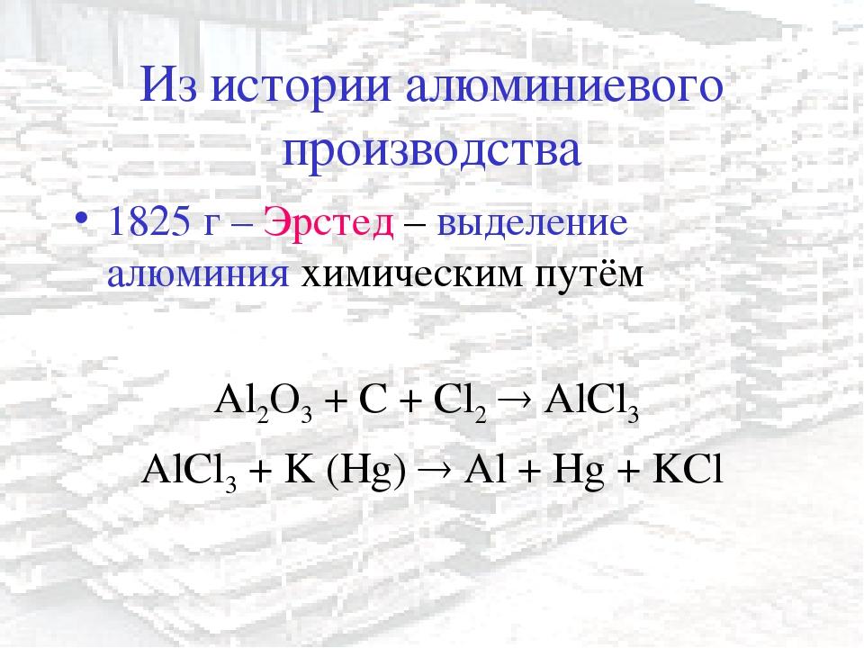 Реферат на тему история получения и производства алюминия 3141