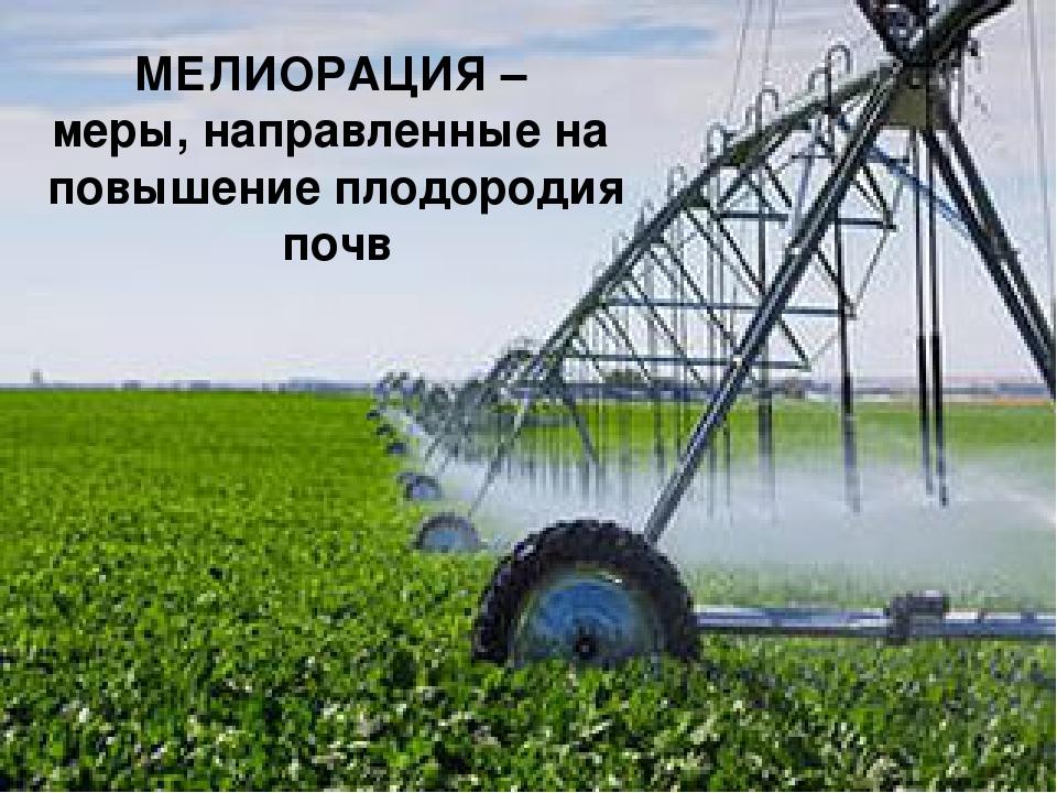 МЕЛИОРАЦИЯ – меры, направленные на повышение плодородия почв
