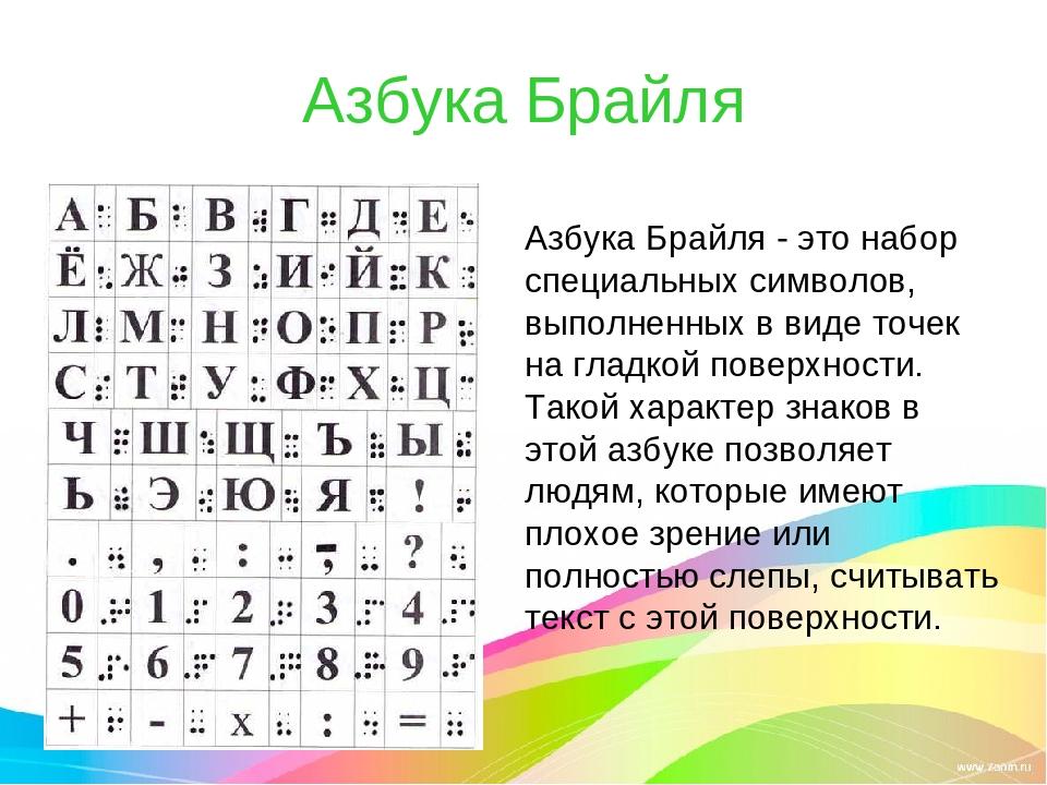 алфавит для слепых картинки