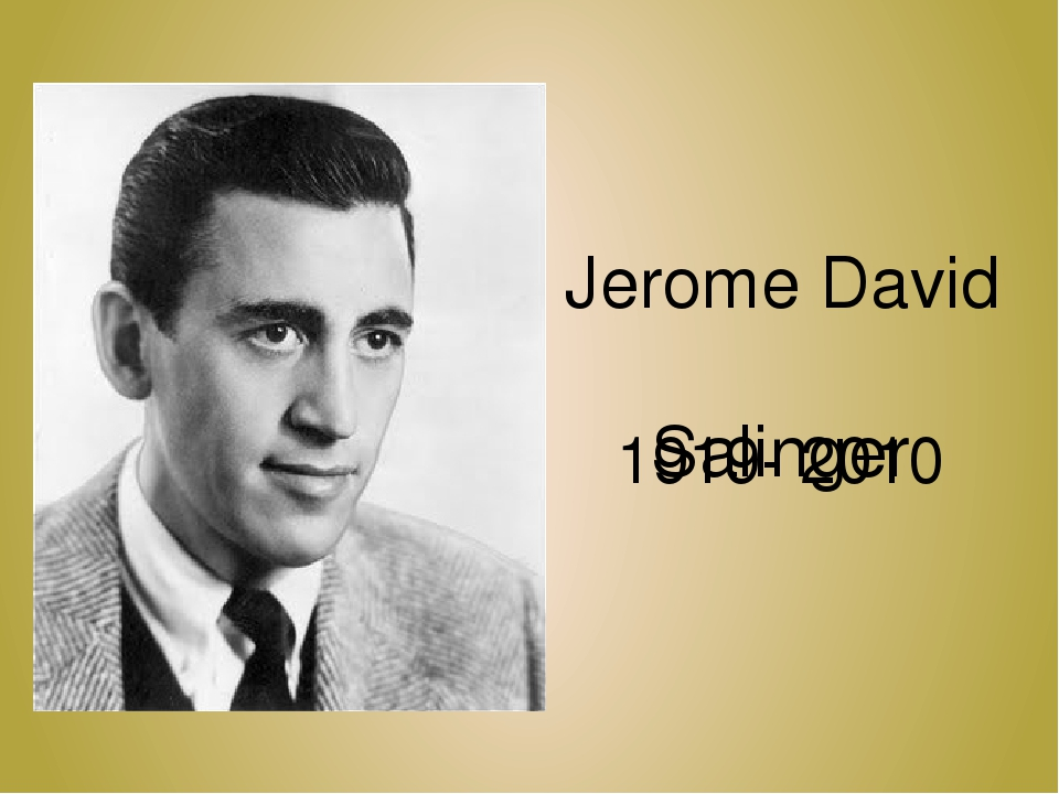 jerome david salinger report