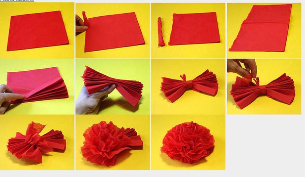 Гвоздики цветы из бумаги