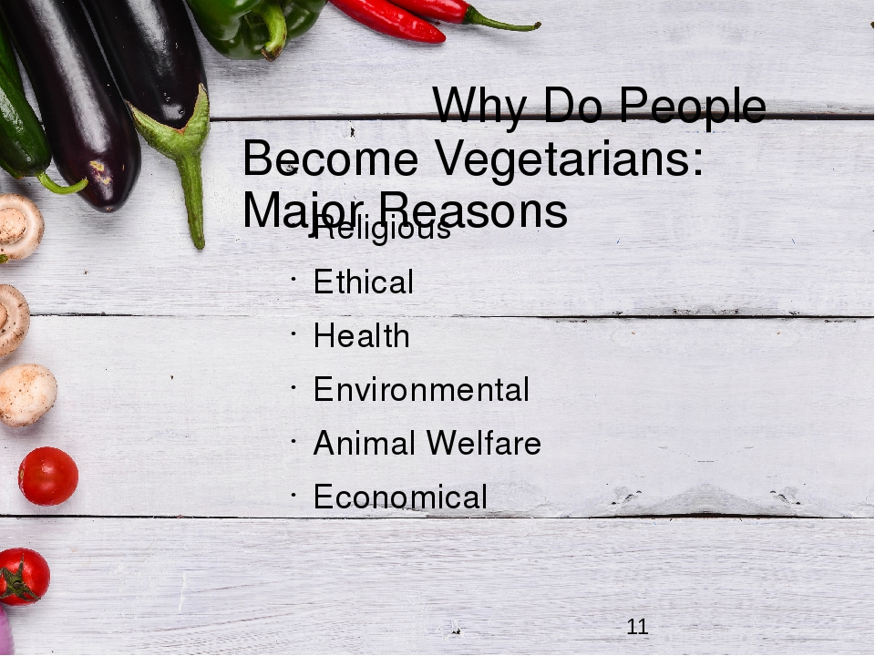 why people become vegetarians Not all people become vegetarian for the same reason, but they believe it has benefits although vegetarians sometimes develop vitamin deficiencies and have difficulty ordering in restaurants, being a vegetarian is still a great way to live because it is ethi.
