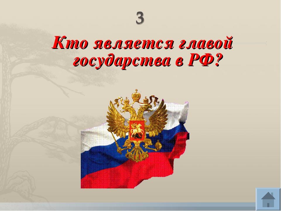 Кто является главой государства в РФ?