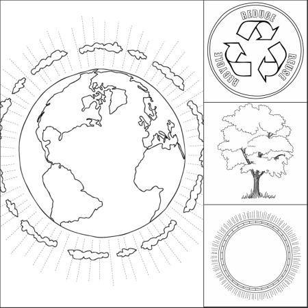 Раскраска на экологическую тему 4 класс