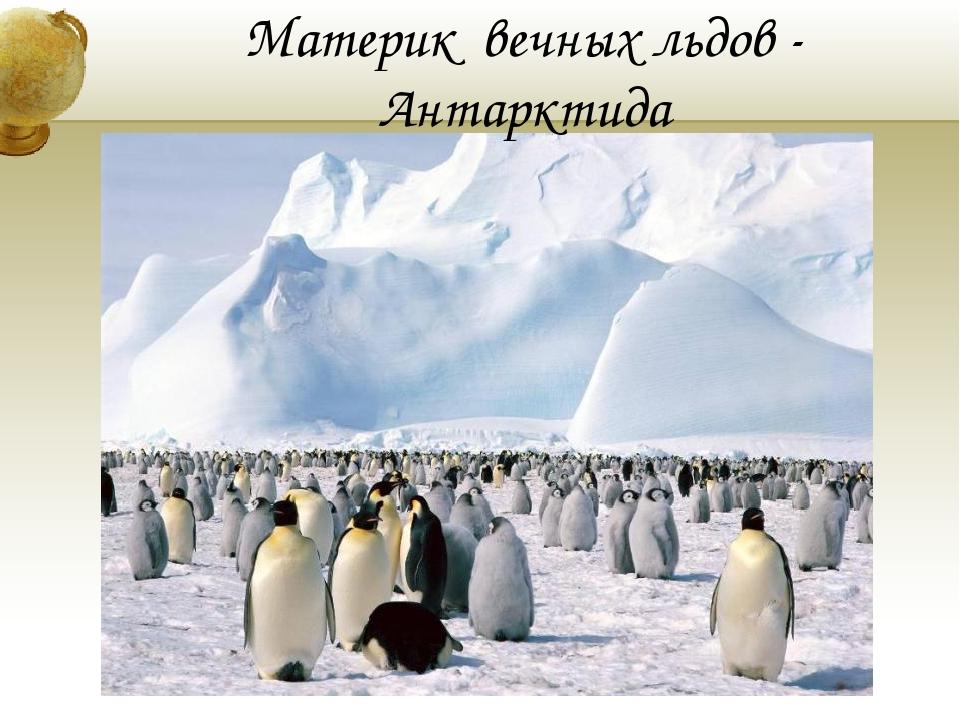 Материк вечных льдов - Антарктида