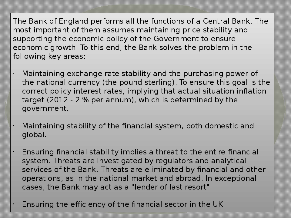 the functions of the central bank A central bank or reserve bank is an institution that manages a state's currency, money supply and interest rates.