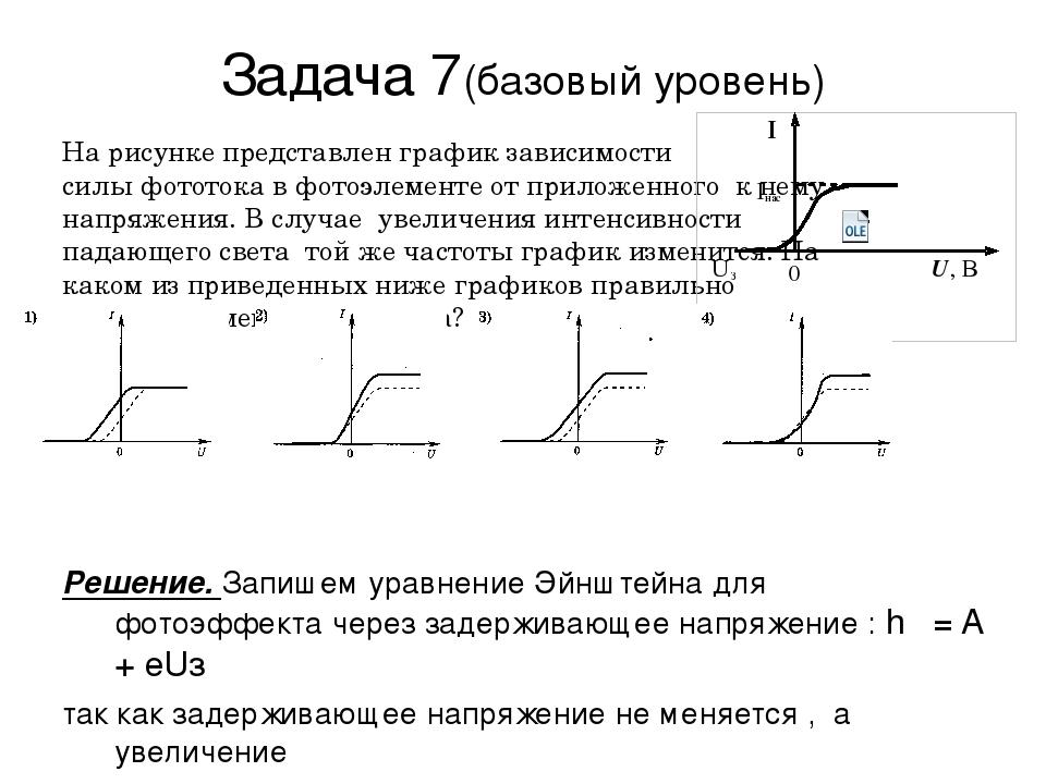 Задачи из егэ на фотоэффект с решением решение задач скорость время путь