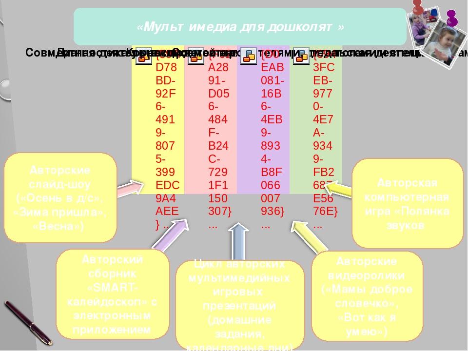 «Мультимедиа для дошколят» 16 слайд В результате мною были разработаны: авто...