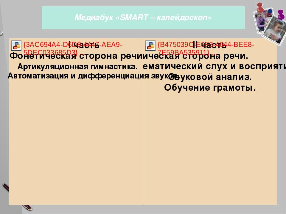 Медиабук «SMART – калейдоскоп» 21 слайд Пособие «СМАРТ-калейдоскоп» состоит...