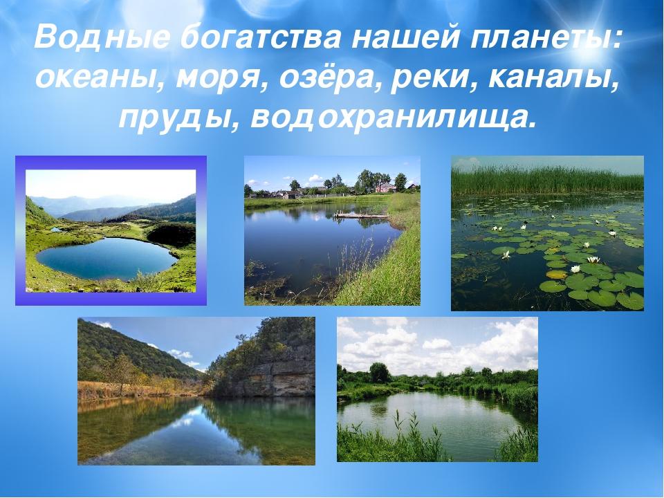 2 класс окружающий мир водные богатства собственных