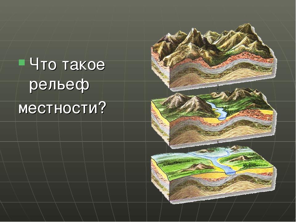 Что такое рельеф местности?