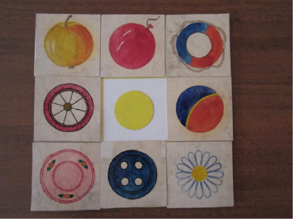 Формы круглой с знакомство предметами