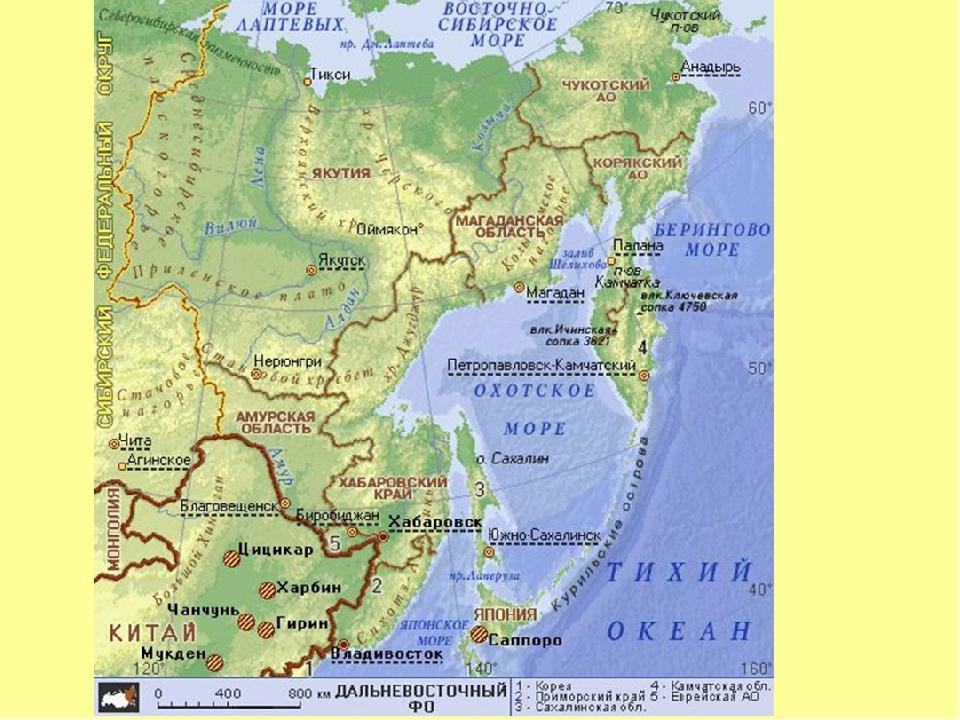 направление карта дальнего востока картинки нанесения
