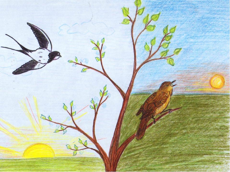 картинки карандашом о весне и лететь станет комбинацией