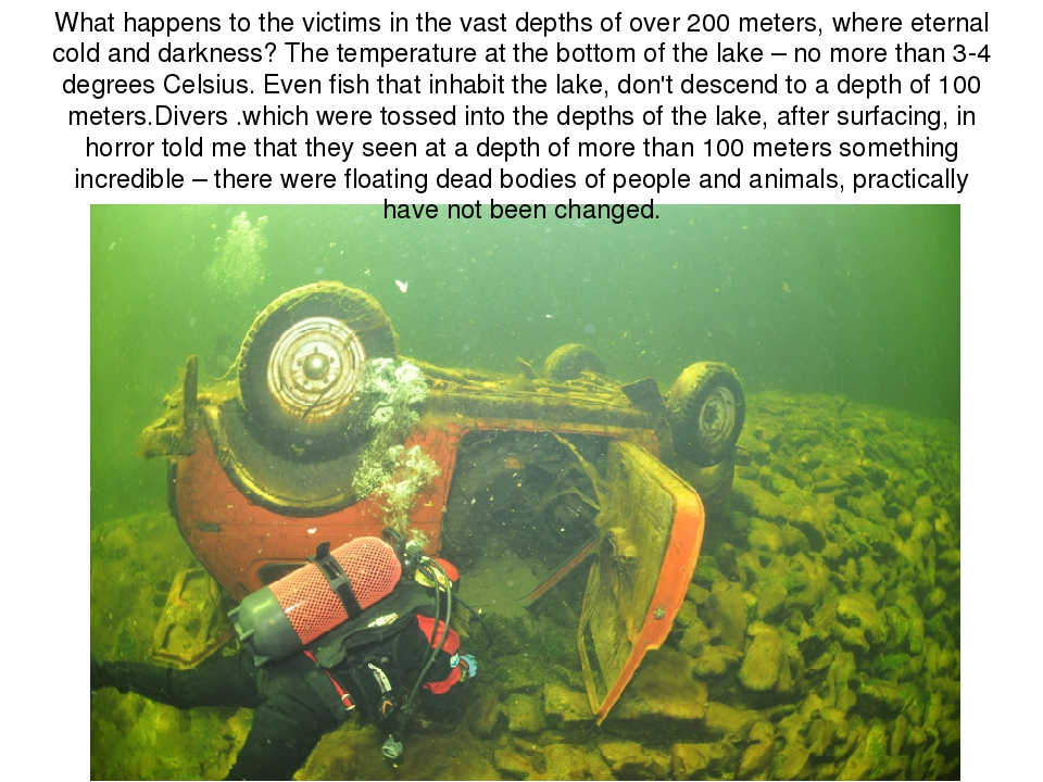 What happens to the victims in the vast depths of over 200 meters, where eter...