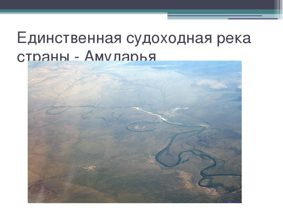 Единственная судоходная река страны - Амударья